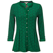 Buy White Stuff Opulent Jersey Shirt, Graphic Green Online at johnlewis.com