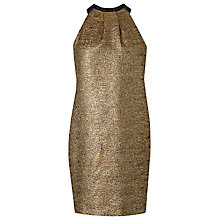 Buy L.K. Bennett Thelda Bow Dress, Gold Online at johnlewis.com