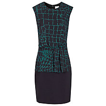 Buy Reiss Carmen Printed Bodycon Dress, Deep Green/Night Online at johnlewis.com