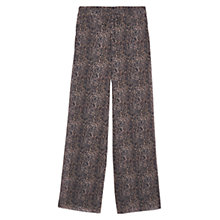 Buy Mango Leopard Print Palazzo Trousers, Medium Brown Online at johnlewis.com