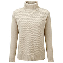 Buy Pure Collection Wainford Purist Undyed Cashmere Cable Jumper, Natural White Online at johnlewis.com