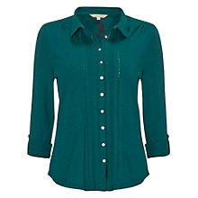 Buy White Stuff Sylvia Jersey Shirt, Green Online at johnlewis.com