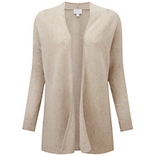 Buy Pure Collection Yardley Gassato Cashmere Ribbed Cardigan, Natural Online at johnlewis.com