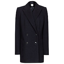 Buy Reiss London Mid Length Wool Coat, Navy Online at johnlewis.com