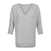 Buy Hobbs Selena Jumper, Soft Grey Online at johnlewis.com