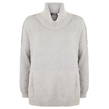Buy Mint Velvet Metallic Boxy Knit, Silver Grey Online at johnlewis.com