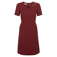 Buy Hobbs Kilkenny Dress, Maroon Online at johnlewis.com