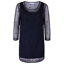 Buy Windsmoor Beaded Tunic Top, Navy Online at johnlewis.com