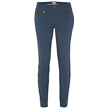Buy White Stuff Nomad Ankle Zip Trousers, Navy Online at johnlewis.com