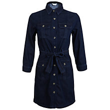 Buy Miss Selfridge Denim Shirt Dress, Mid Wash Denim Online at johnlewis.com