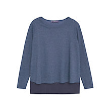 Buy Violeta by Mango Double-Layer T-Shirt, Navy Online at johnlewis.com