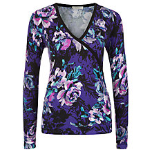 Buy Kaliko Autumnal Bloom Wrap Detail Top, Purple/Multi Online at johnlewis.com