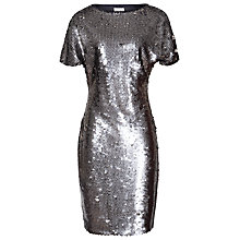 Buy Reiss Teresa Sequin Party Dress, Navy/Silver Online at johnlewis.com
