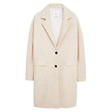 Buy Mango Wool Coat, Pastel Pink Online at johnlewis.com