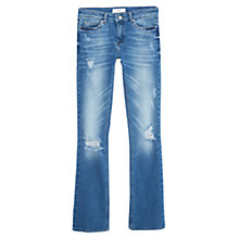 Buy Mango Bootcut Cara Jeans, Open Blue Online at johnlewis.com