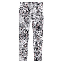 Buy Mango Snake Pattern Trousers, Pink Online at johnlewis.com