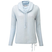 Buy Pure Collection Cairn Gassato Cashmere Cowl Neck Jumper, Frost Blue Online at johnlewis.com