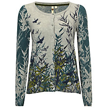 Buy White Stuff Pillow Book Printed Cardigan, Soft Grey Online at johnlewis.com