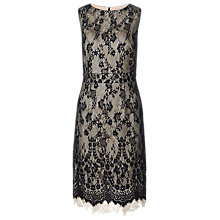 Buy Kaliko Double Layer Heavy Lace Dress, Multi/Black Online at johnlewis.com