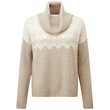 Buy Pure Collection Nightingale Purist Undyed Cashmere Fairisle Jumper, Natural White Online at johnlewis.com