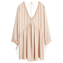 Buy Mango Flowy Fringe Dress, Light Pastel Pink Online at johnlewis.com