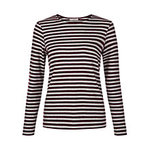 Buy Hobbs Evie Top, Plum Multi Online at johnlewis.com