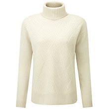 Buy Pure Collection Yeldham Purist Undyed Cashmere Cable Jumper, Pure White Online at johnlewis.com