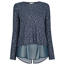 Buy Oasis Sequin Wrap Back Top Online at johnlewis.com