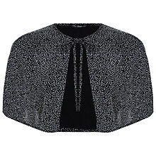 Buy Miss Selfridge Sparkle Cape, Silver Online at johnlewis.com