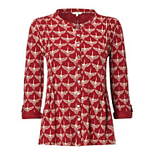 Buy White Stuff Flying Geese Jersey Shirt, Rich Red Online at johnlewis.com