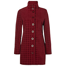 Buy White Stuff Textured Velvet Coat, Rich Red Online at johnlewis.com