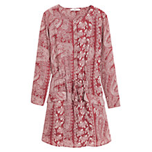 Buy Mango Paisley Print Dress, Rust Online at johnlewis.com
