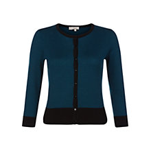 Buy Hobbs Holly Cardigan, Sea Blue Online at johnlewis.com