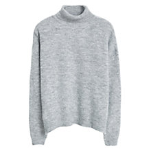 Buy Mango Stand Collar Jumper, Light Pastel Grey Online at johnlewis.com