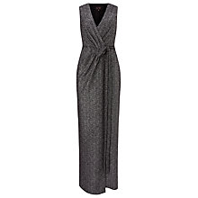 Buy Phase Eight Kylie Wrap Front Maxi Dress, Silver Online at johnlewis.com