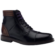Buy Ted Baker Musken Leather Ankle Boots, Black Online at johnlewis.com