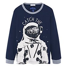 Buy Mango Kids Boys' Astronaut Pyjamas, Navy Online at johnlewis.com