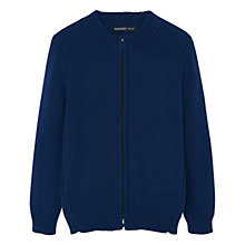 Buy Mango Kids Boys' Chunky Zip Cardigan, Blue Online at johnlewis.com