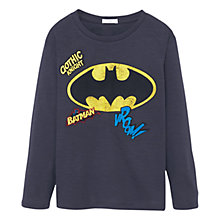 Buy Mango Kids Boys' Batman T-Shirt, Charcoal Online at johnlewis.com