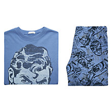 Buy Mango Kids Boys' Print Pyjamas, Blue Online at johnlewis.com