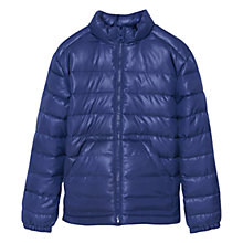Buy Mango Kids Boys' Quilted Coat, Dark Blue Online at johnlewis.com