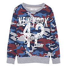 Buy Mango Kids Boys' Camo Print Sweatshirt, Grey Online at johnlewis.com
