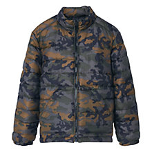 Buy Mango Kids Boys' Camo Puffer Jacket, Green Online at johnlewis.com