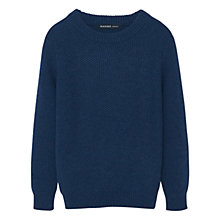 Buy Mango Kids Boys' Textured Jumper, Blue Online at johnlewis.com