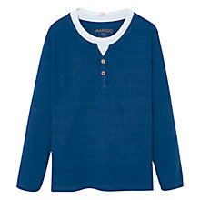 Buy Mango Kids Boys' Cotton Long Sleeve T-Shirt, Blue Online at johnlewis.com