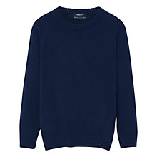 Buy Mango Kids Boys' Cotton Sweater, Navy Online at johnlewis.com