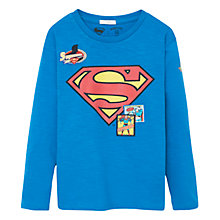 Buy Mango Kids Boys' Superman T-Shirt, Aqua Online at johnlewis.com
