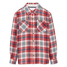 Buy Mango Kids Boys' Check Shirt, Orange Online at johnlewis.com