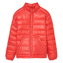 Buy Mango Kids Boys' Quilted Coat, Orange Online at johnlewis.com