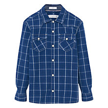 Buy Mango Kids Boys' Check Shirt, Blue Online at johnlewis.com